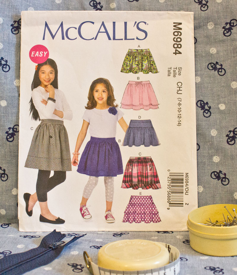 McCalls M6984 girls skirt